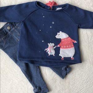 3/$25 Gymboree polar bear sweatshirt